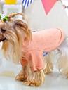 Katter Hundar T-shirt Pyjamas Hundkläder Sommar Vår/Höst Enfärgat Gulligt Ledigt/vardag Grön Blå Rosa