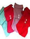 Chien Robe Rouge / Bleu / Violet / Rouge Rose Vetements pour Chien Hiver / Printemps/Automne Couleur Pleine Decontracte / Quotidien / Mode