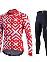 fastcute Maillot et Cuissard Long de Cyclisme Femme Homme Unisexe Manches longues VeloPantalon/Surpantalon Survetement Maillot Collants