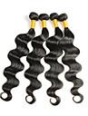 4 Pieces Ondulation naturelle Tissages de cheveux humains Cheveux Malaisiens Tissages de cheveux humains Ondulation naturelle