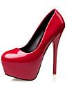Homme-Habille-Noir / Vert / Rose / Rouge-Talon Aiguille-Talons / Bout Arrondi / Bout Ferme-Chaussures a Talons-Similicuir