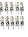 1.5 G4 LED Doppel-Pin Leuchten T 24 SMD 3014 75 lm Warmes Weiss / Kuehles Weiss Dekorativ DC 12 V 10 Stueck