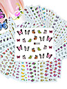 50pcs differentes fleurs styles de mode motif ongles transfert d\'eau d\'art autocollants