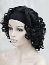 nouvelle mode 3/4 perruque avec courte perruque synthetique boucles moitie de bandeau femmes