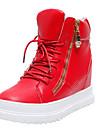 Homme-Decontracte-Noir / Rouge / Blanc-Talon Plat-Confort-Sneakers-Synthetique