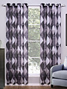 Deux Panneaux Le traitement de fenetre Moderne , Geometrique Salle de sejour Polyester Materiel Rideaux opaques Decoration d\'interieurFor