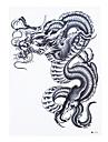 1 Tatueringsklistermärken Totemserier Ogiftig Mönster Ländrygg VattentätDam Herr Vuxen Blixttatuering tillfälliga tatueringar