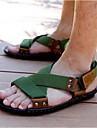 Bărbați Sandale Pânză Nailon Vară Casual Toc Plat Negru Verde Plat