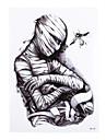 1 Tatouages Autocollants Autres Non Toxique Motif Bas du Dos ImpermeableHomme Femme Adulte Tatouage Temporaire Tatouages temporaires