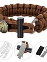 Bracelet de survie / Multifonctions Randonnees / Camping / Voyage / Outdoor / Indoor / CyclismeMilitaire / Multi Function / Survie / Kit