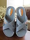 Unisex Papuci & Flip-flops Confortabili PVC Primăvară Vară Toamnă Casual Confortabili Toc Plat Gri Albastru Plat