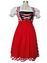 Cosplay Kostymer/Dräkter / Festklädsel Piguniform / Oktoberfest Festival/Högtid Halloween Kostymer Röd Lappverk Klänning / Mer accessoarer