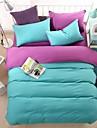 bedtoppings fular acopere plapumă pilota 4buc set queen size foaie plată pillowcase solid de culoare tesatura microfibră reversibile