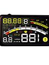 tete de voiture d\'affichage hud obd systeme d\'avertissement de vitesse d\'affichage projecteur voiture interface style km / h de carburant