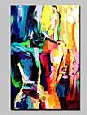 Peint a la main Abstrait Personnage Nu Peintures a l\'huile,Moderne Un Panneau Toile Peinture a l\'huile Hang-peint For Decoration