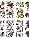 1 Tatueringsklistermärken Djurserier Totemserier Mönster Ländrygg VattentätDam Herr Vuxen Tonåring Blixttatuering tillfälliga tatueringar
