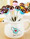 12 pcs chocolat lollipop encre noire stylo gel