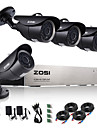 zosi®8ch 720p hdmi ahd dvr cctv 4pcs 1.0 systeme de surveillance par camera mp ir securite exterieure