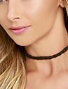 Dame Coliere Choker Material Textil Franjuri La modă Alb Negru Bijuterii Zilnic Casual 1 buc