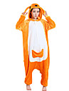 kigurumi Pyjamas Kangourou Collant/Combinaison Fete / Celebration Pyjamas Animale Halloween Orange Polaire Kigurumi Pour UnisexeHalloween
