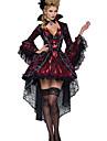 Costumes de Cosplay / Costume de Soiree Vampire Fete / Celebration Deguisement Halloween Rouge Couleur Pleine Robe / Collier Halloween