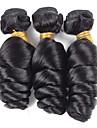 Human Hår vävar Eurasiskt hår Löst vågigt 18 månader 3 delar hår väver