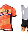 Miloto® Maillot et Cuissard a Bretelles de Cyclisme Homme Manches courtes VeloRespirable / Sechage rapide / Permeabilite a l\'humidite /