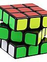 Yongjun® Mjuk hastighetskub 3*3*3 Hastighet Magiska kuber Svart Blekna slät klistermärke Guanlong Anti-pop justerbar fjäder ABS