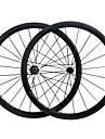 38C Carbon Fiber 700c Road Bike Wheelsets 38mm Clincher R13 Hub and 3k Weave Clear /Matte Finish Wheels 23mm Width
