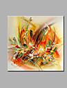 Peint a la main Abstrait A fleurs/Botanique Carre,Moderne Classique Un Panneau Toile Peinture a l\'huile Hang-peint For Decoration