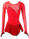 Robe de Patinage Femme Manches longues Patinage Robes Haute elasticite Robe de patinage artistique Respirable Vestimentaire Spandex Maille