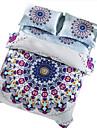 Fleur Ensembles housse de couette 4 Pieces Coton Motif Imprime Coton Lit 2 Places \'Queen\'1 pieces (1 housse de couette, 1 drap, 2 housses