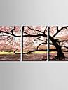 Paysage / Botanique Toile Trois Panneaux Pret a accrocher , Format Vertical