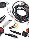 kawell 2 ben kablaget innefattar switch kit suppot 300W ledde arbetsbelysning LED-ljus bar kabelnät och strömbrytare kit
