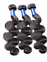 Tissages de cheveux humains Cheveux Peruviens Ondulation naturelle 3 Pieces tissages de cheveux
