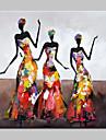 Peint a la main Personnage / Portraits Abstraits Peintures a l\'huile,Modern Un Panneau Toile Peinture a l\'huile Hang-peint For Decoration