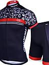 Sportif Maillot et Cuissard de Cyclisme Homme Manches courtes VeloRespirable / Sechage rapide / Design Anatomique / Resistant aux