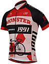 Sportif Maillot de Cyclisme Homme / Unisexe Manches courtes VeloRespirable / Sechage rapide / Design Anatomique / Resistant aux