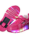 Fille-Exterieure Decontracte Sport-Noir Bleu Rose-Talon Bas-Light Up Chaussures Confort-Baskets-Cuir