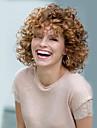 Femme Perruque Synthetique Court Frises Afro Marron Perruque Naturelle Perruque Halloween Perruque de carnaval Perruque Deguisement