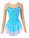 Robe de Patinage Femme Sangles Patinage Robes Haute elasticite Robe de patinage artistique Respirable Vestimentaire FleursSpandex Soie