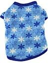 Chat / Chien T-shirt / Pyjamas Orange / Bleu / Violet / Noir / Incanardin / Rouge Rose / Multicouleur Vetements pour ChienEte /
