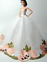 Mariage Robes Pour Poupee Barbie Ivoire Lace Robes Pour Fille de Doll Toy