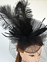 Vrouwen Veren Tule Net Helm-Bruiloft Speciale gelegenheden Informeel Fascinators Net Sluier 1 Stuk