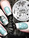 2016 senaste versionen mode julsnowman mönster nail art stämpling bild mall plattor
