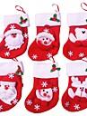 6buc / mulțime de șosete de Crăciun vesel Crăciun decorare pentru acasă Moș Crăciun cadou ornamente de Crăciun decorare