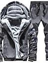 Bărbați activewear Set Plus Size Șic Stradă Peteci Căptușeală de Lână Bumbac / Poliester Micro-elastic Manșon Lung Toamnă / Iarnă