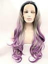 sylvia dentelle synthetique avant perruque racines noires perruques synthetiques purple trois tons cheveux chaleur cheveux ombre resistant