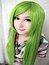 Femme Perruque Synthetique Sans bonnet Tres long Raide Vert Perruque Halloween Perruque de carnaval Perruque de Cosplay Perruque