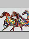 Peint a la main Animal Peintures a l\'huile,Moderne Un Panneau Toile Peinture a l\'huile Hang-peint For Decoration d\'interieur